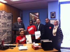 Our Bronx team meeting with Senator Gustavo Rivera