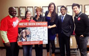 Our Brooklyn team met with Lentol Marcy Feiman, staff member from Assemblyman Joseph Lentol's office.