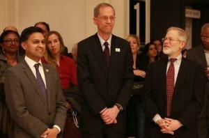 Dr. Nirav Shah, Dr. Thomas Farley and NYS Assembly Member Richard N. Gottfried