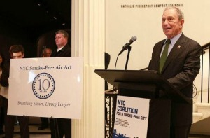 Mayor Bloomberg addresses a room full of tobacco control champions