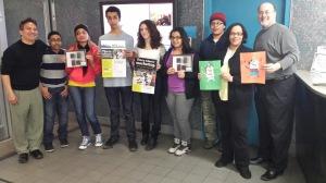 Tiffany Rivera of the Manhattan Smoke-Free Partnership with Manhattan youth