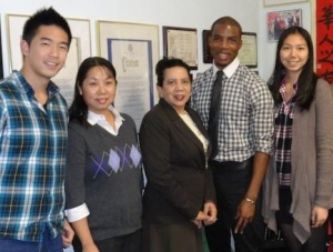 (Left to Right): Lenny Cheng and Wai Yee Chen (CPC-Brooklyn), former NYC Council Member Sara Gonzalez, Edric Robinson (our BK team) and Eunice Huang (CPC-Brooklyn).