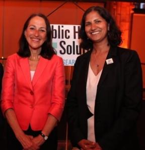 Dr. Margaret Hamburg and Sheelah Feinberg, Director of the Coalition